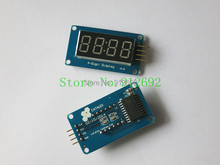 4 digital display with adjustable brightness LED module clock Point Accessories Blocks for arduino with Anti-static bag(China (Mainland))