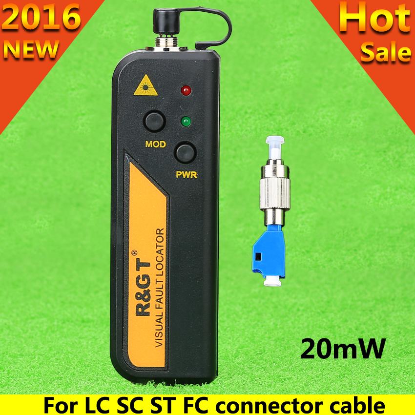 KELUSHI 20mW Visual Fault Locator Fiber Optic Cable Tester LC/FC/SC/ST Adapter Red light fiber-optic test fault detector(China (Mainland))