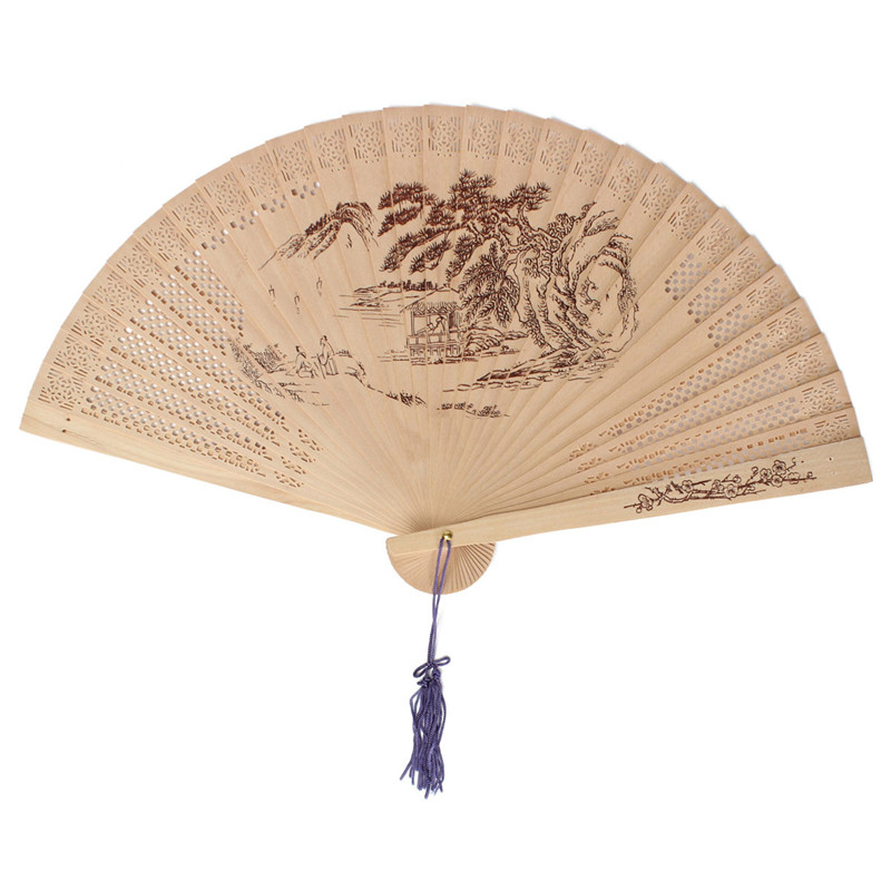 Wedding Supplies Chinese Sandalwood Women Summer Party Folding Fan Men Hand Fans Gift Item Condition New With Tags(China (Mainland))