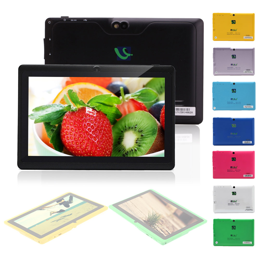 """IRULU eXpro X1 7"""" Brand Tablet PC Dual Core Android 4.2 Tablet 1.5GHz 8GB ROM Dual Camera OTG USB 3G WIFI Multi-colors Free Ship(China (Mainland))"""