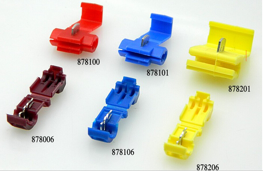 10PCS lot Yellow 878201 Soft wire clip Folding clasp Sub line connector Car cord clamp