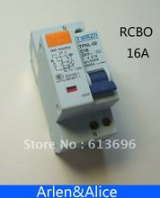 DPNL 16A 230V~ 50HZ/60HZ 1P+N Residual current Circuit breaker with over current and Leakage protection RCBO(China (Mainland))