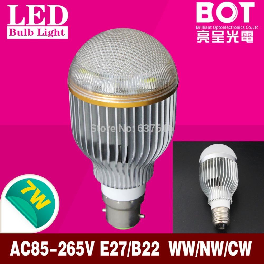 2pcs/lot free shipping by Post led light bulb 7W lamp E27 ...