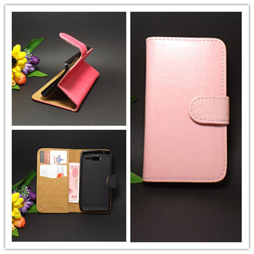 Crazy horse Flip leather case Credit Card Slots and stand function For Motorola ATRIX 4G MB860 ME860 Free shipping(China (Mainland))
