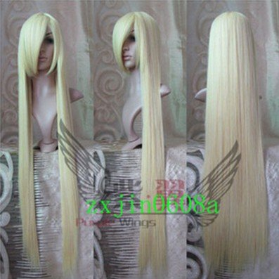 2012 New Long Platinum-Blonde Cosplay Party парик 100CM