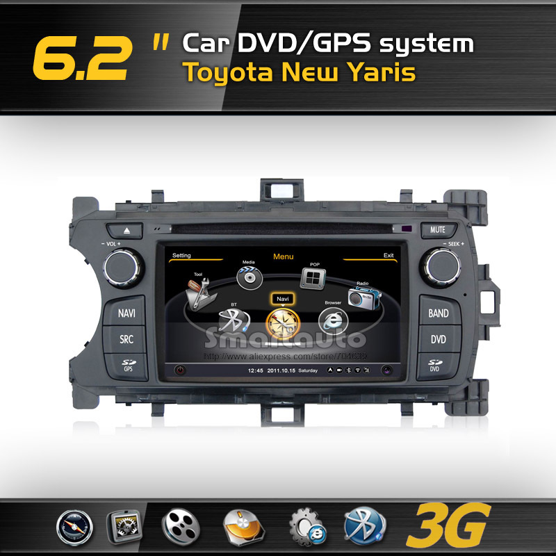Hot sale new DDR2 512M,Virtual 20 CD,4G memory,Car DVD GPS for Toyota New Yaris Support Rearview CCD Camera(China (Mainland))