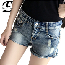 Ripped Shorts Femme Sexy Punk Hole Short Jeans 2016 Summer Women Denim Shorts Fashion Ladies Short Trousesrs Plus Size Clothing