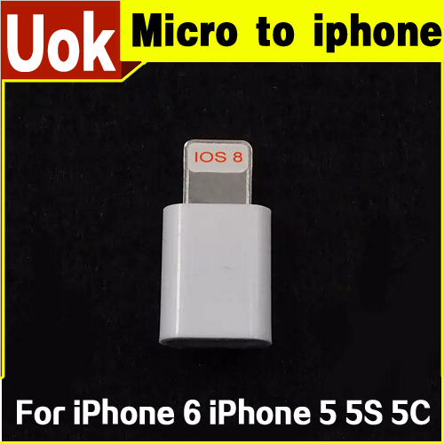 Micro USB Data Sync Charge Connector Micro usb Cable Charger Adapter For iPhone 6 iPhone 5 5S 5C Micro Usb to 8 Pin Convertor(China (Mainland))