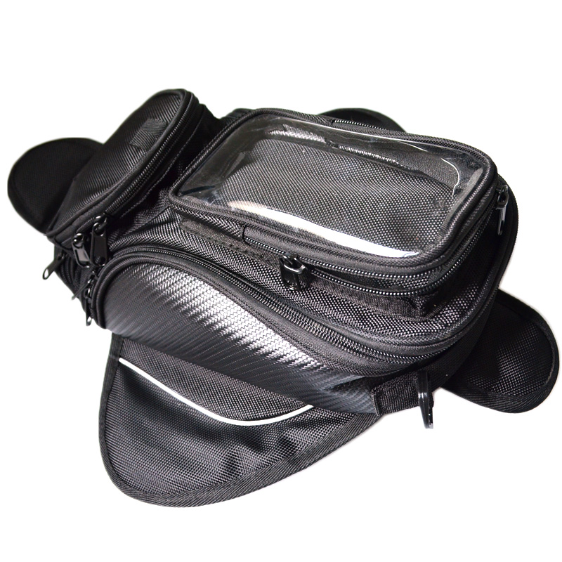 Motorcycle tank bag motorbike oil fuel tank bag Magnetic Motorcycle Oil Fuel Tank Bike saddle bag motorcycle bag big screen
