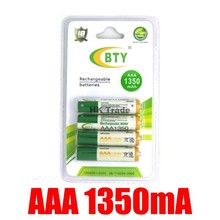 4 BTY AAA Ni MH Rechargeable Battery Pack 1350Mah 4 BTY AA Ni MH Rechargeable Battery