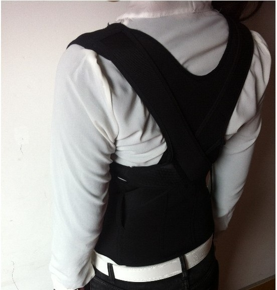 High Quality Free shipping30pces/lot Custom Made Adult XXXL Correct Posture Corrector Back Support Belt Vest Brace(China (Mainland))