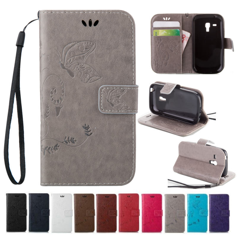 Brand New Leather Wallet Magnet Flip Phone Cover Case For Samsung Galaxy S3 MiNi i8190 With Embossed Pattern Card Slot Protector(China (Mainland))