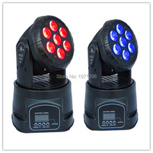 2pcs/lot Fast Shipping LED Moving Head Mini wash 7x12w RGBW Quad with advanced 14 channels factory directly sale Free Shpping(China (Mainland))