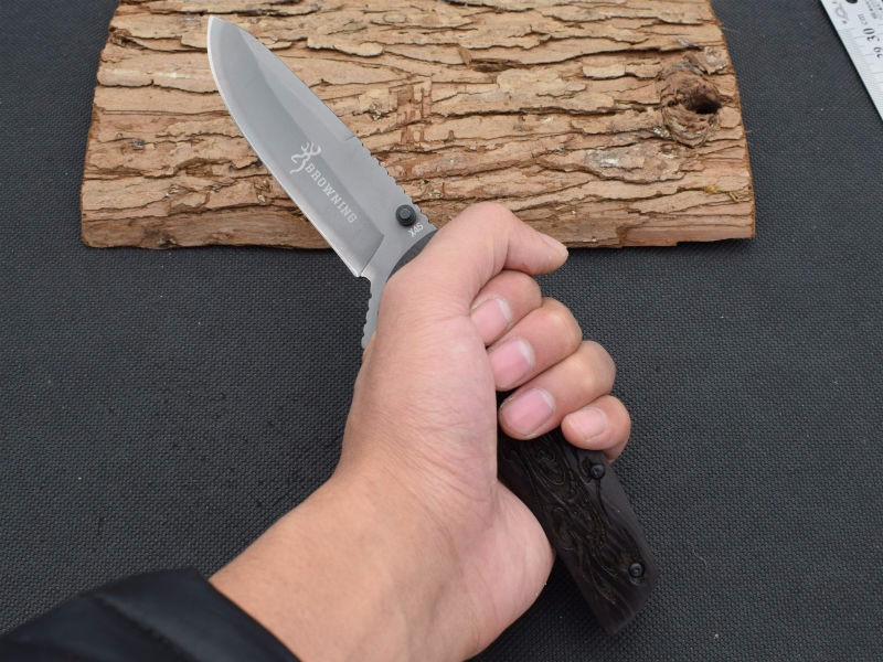 Buy New Survival Knife 440 Steel Blade 57HRC Hardness BROWNING Pocket Folding Knifes Hunting Tactical Knives Camping Outdoor Tools 5 cheap