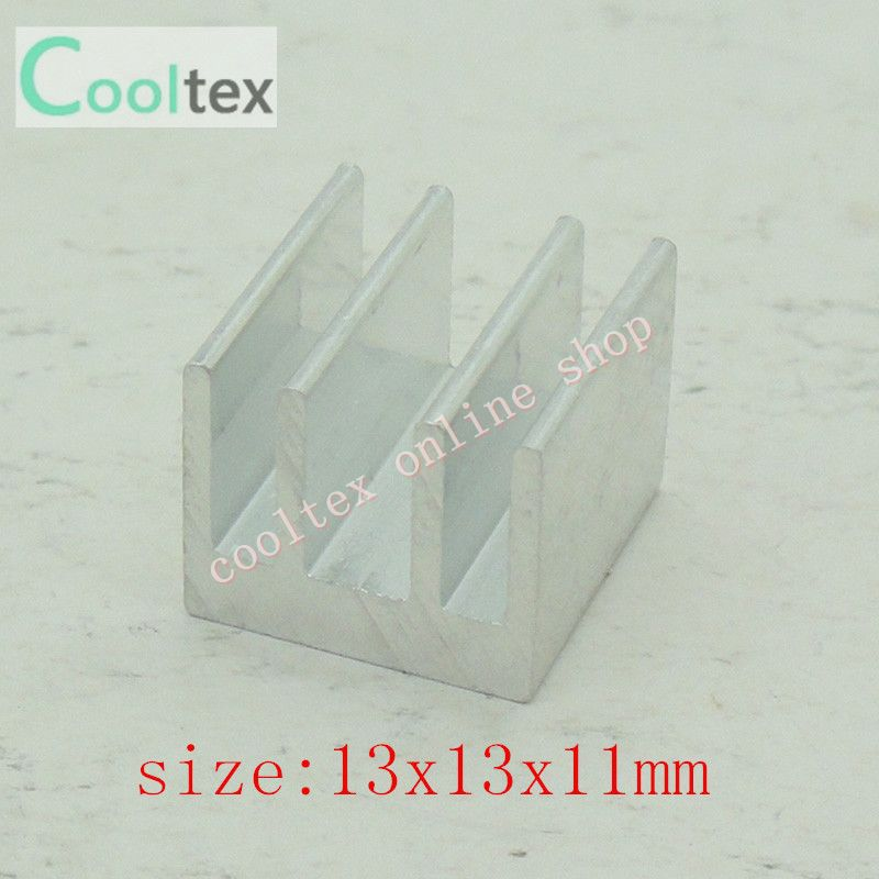 Free Shipping 500pcs 13x13x11mm Aluminum Heatsink, radiator,Chip CPU GPU VGA RAM LED IC Heat Sink,cooler
