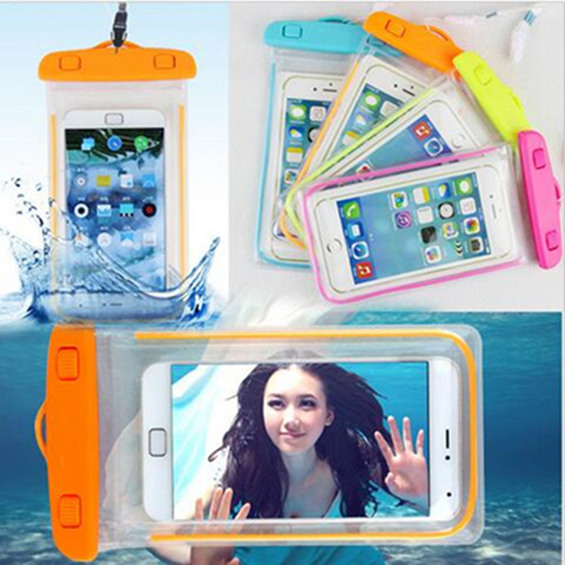 Swim photography Waterproof Phone Pouch Bag Night Underwater Luminous Case For LG F6 F60 F70 L5 L60 L7 L70 L80 Most Phones Cover(China (Mainland))