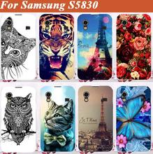 High Quality Diy 3d painting Colored Cell Phone Case cover for Samsung Galaxy Ace S5830 5830 Case Skin Sheer Free Shipping
