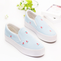Cute Fruits Print Flats Girls Summer 2016 Breathable Women Loafers Hand Painted Canvas Espadrilles Fashion Platform
