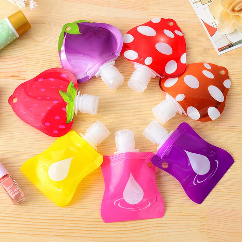 New fruit shape Portable Refillable Bottles Mini sample containers Traveler perfume bottles for Shampoo Gel Lotion Bottle KT0052(China (Mainland))
