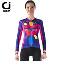 2016 Autumn Cheji Woman Long Cycling Set Lip Printing Cycling Clothes New Bike Clothing Female Cycling