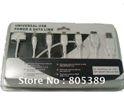 USB Powered Charging Cable for iPod/iPhone 3G/HTC/PSP/GBASP/NDS Lite/NDSi