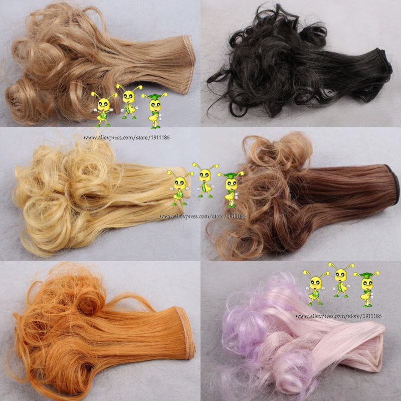 free shipping 15cm short curly 1/3 1/4 1/6 BJD/SD Doll hair/ DIY doll natrual color wigs hair wig for bjd doll  (wholesale)<br><br>Aliexpress
