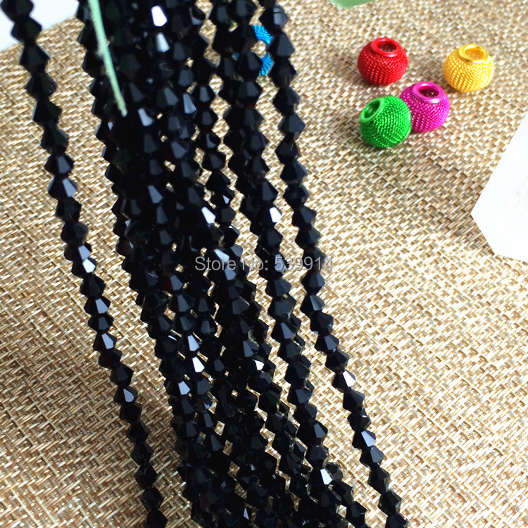 4mm Crystal Black Faceted Glass Abacus Bead 800pcs/Lot  Free Shipping<br><br>Aliexpress