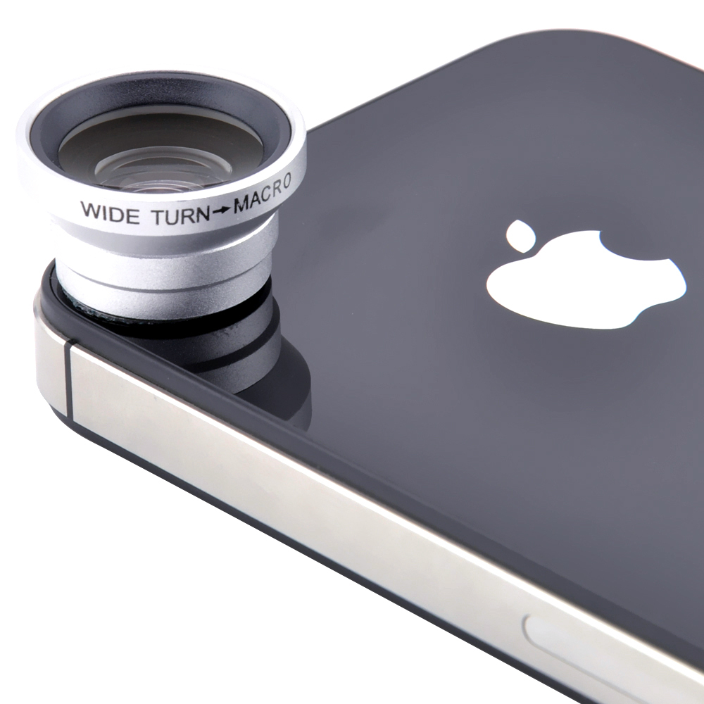 Magnetic Wide Angle + Macro Camera Lens Kit for iPhone 6 5S 5 4S Samsung Galaxy S6 S5 S4 Note 4 3 2 Sony Xperia Z Smartphones