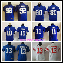 Hot new york giants Top quality For youth kids girls Home Away Odell Beckham Jr Eli Manning Victor Cruz Phil Simms BH,camouflage(China (Mainland))