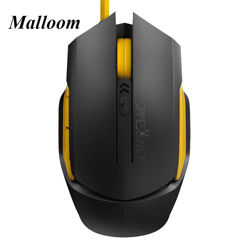 Mouse New Women's Ultra Thin Optical USB Wired Gaming Mouse DPI Adjustable James Donkey GAME BLACK(China (Mainland))