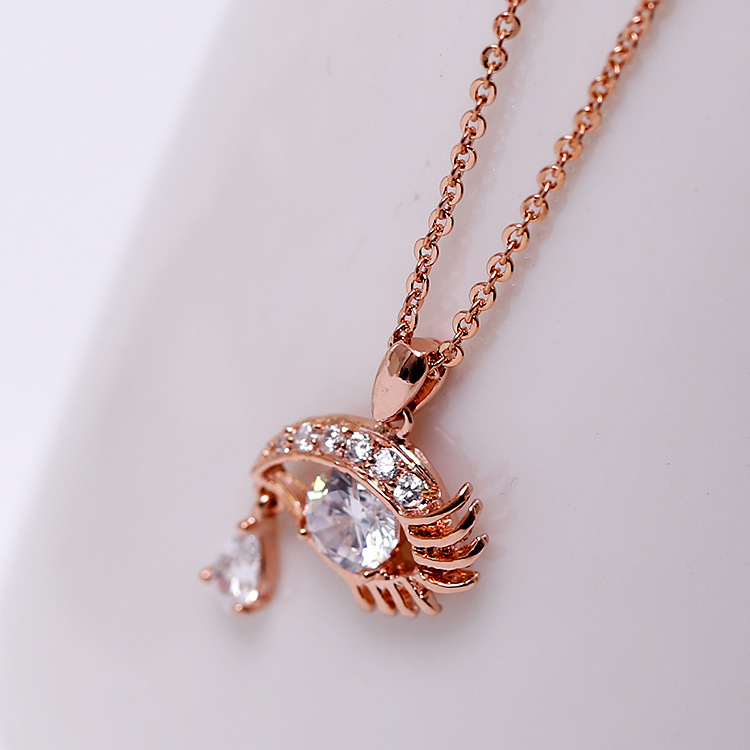 arrive Rose Gold silver Plated necklace Austria Crystal eye collar Pendant - Sycamore Trade store