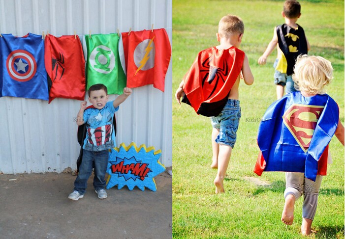 Superhero cape Super Hero Costume for Children Halloween Christmas Birthday Party Costumes for Kids Children