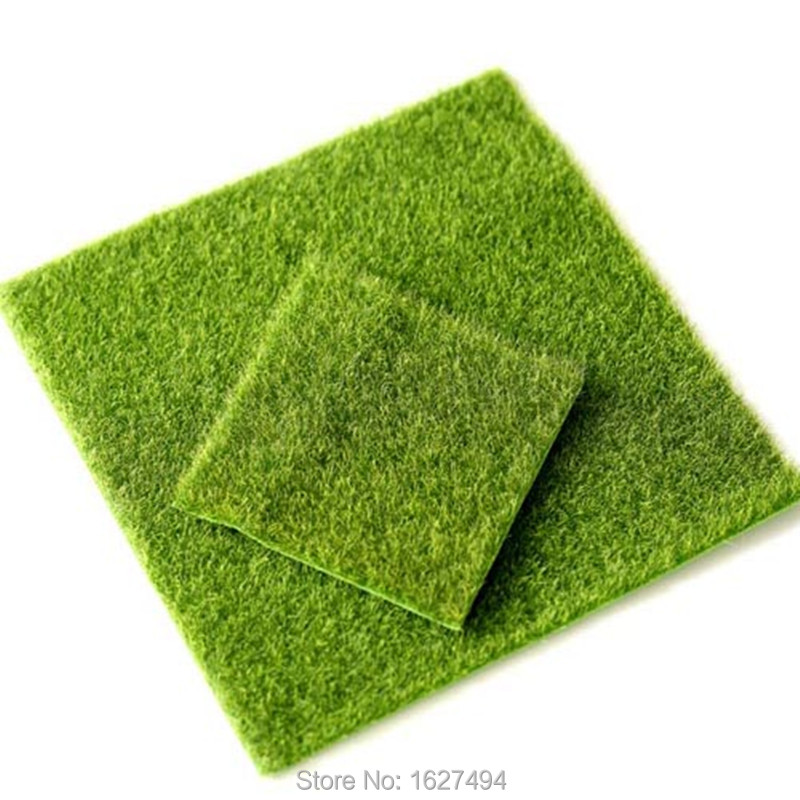 Artificial green moss mat crafts for Artificial grass decoration