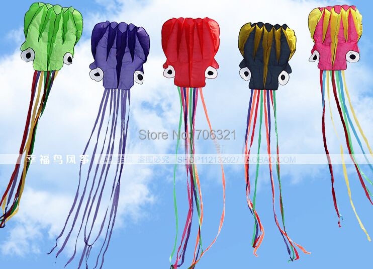 4M Octopus Kite Soft Kite parafoil Easy to fly outdoor gift free line 30m(China (Mainland))