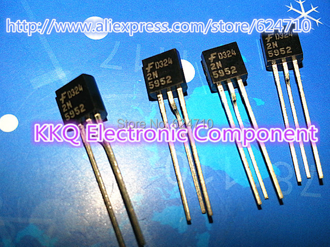 Free shipping 100pcs Original 2N5952 N-Channel JFET 30V TO-92 Silicon Transistor Triode Power Transistor(China (Mainland))