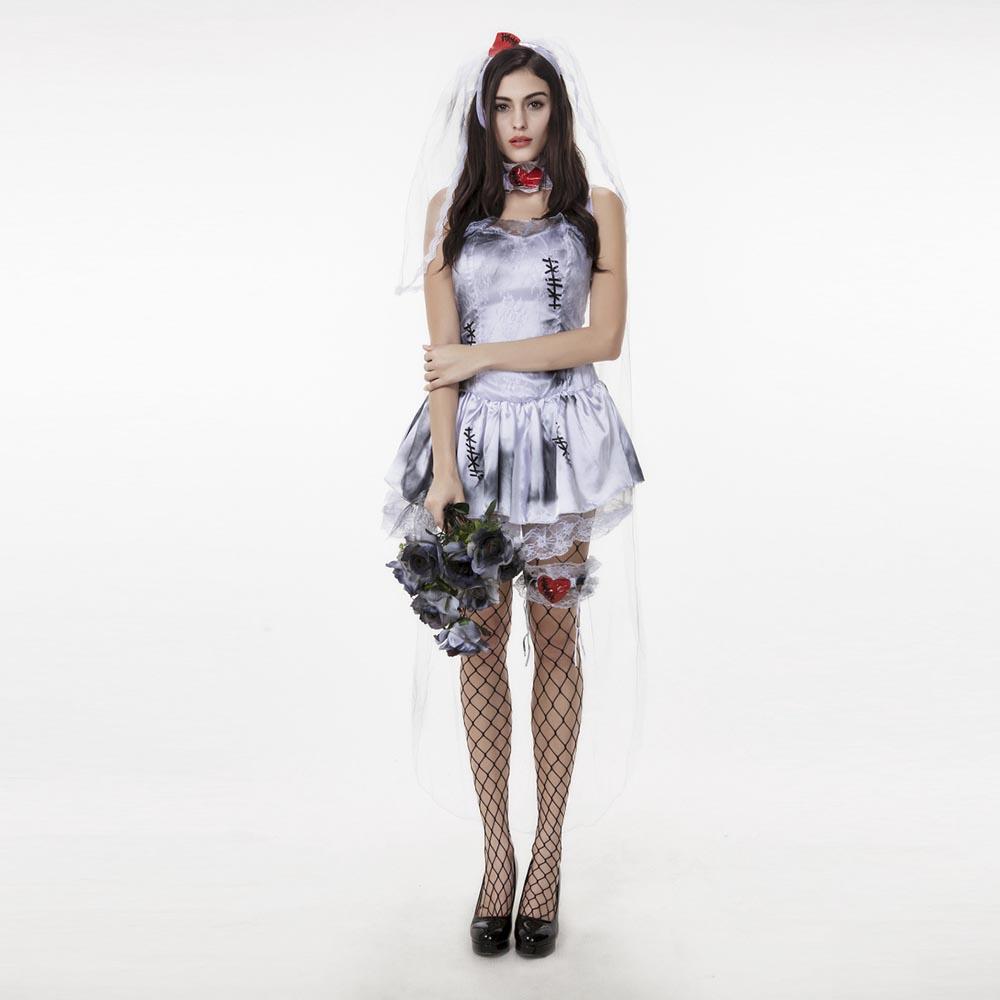 Popular corpse bride wedding dress buy cheap corpse bride for Cheap wedding dress costume