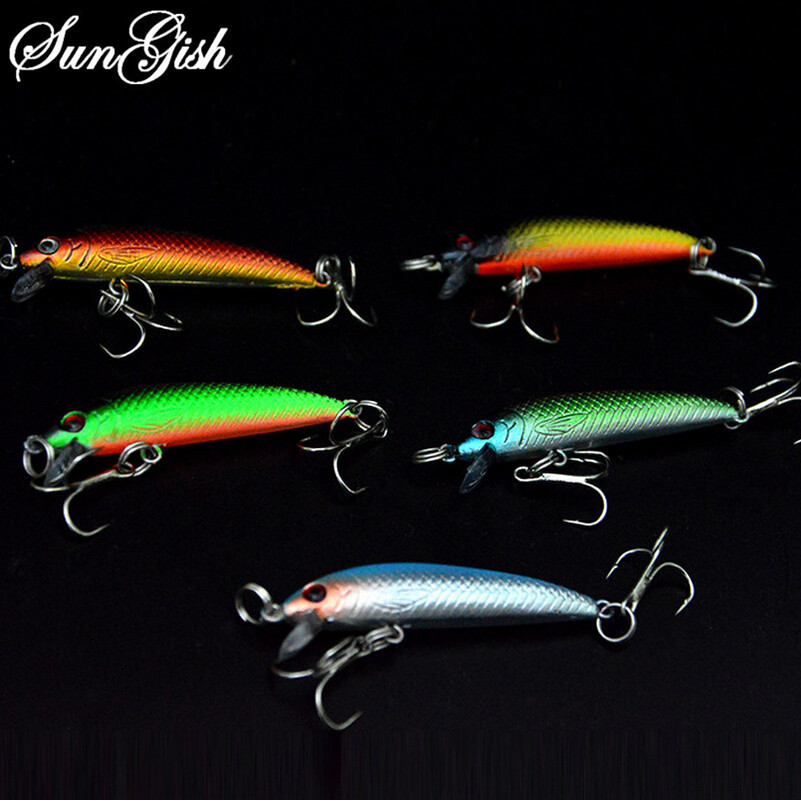 Hot Sale 5 Colors Fishing Lures Crankbait Fish Hooks Isca Artificial Bionics Bait Fishing Accessory 3.6g 55mm Wholesale FA0046(China (Mainland))