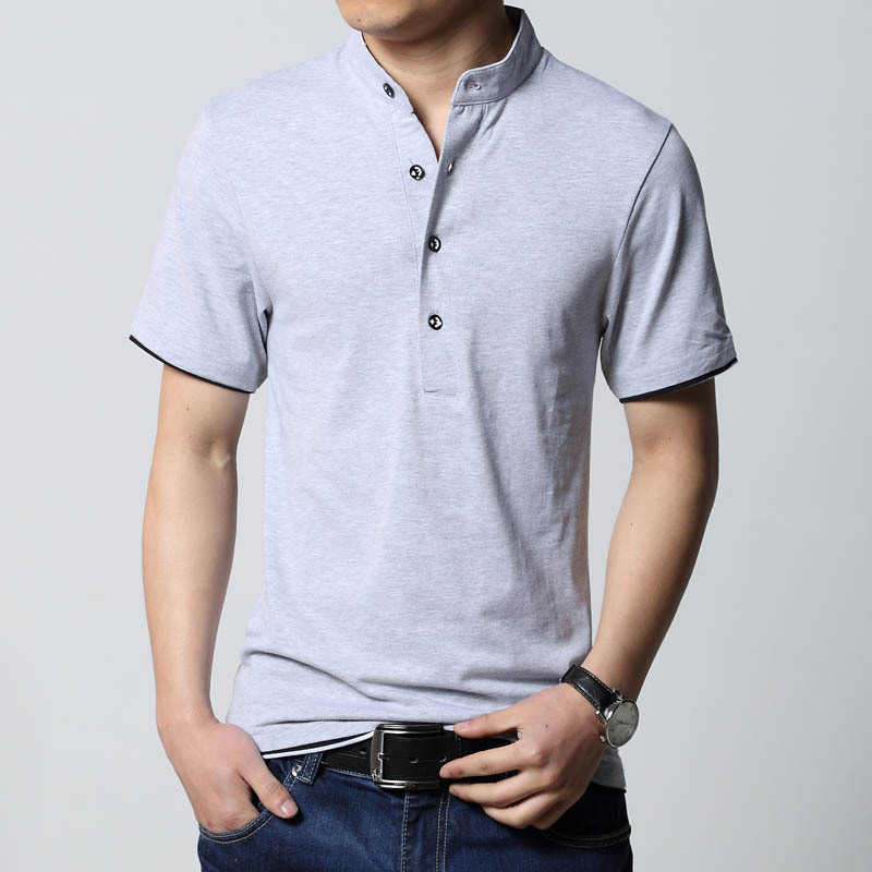 New male short sleeve t shirt loose casual t shirt male for Mens dress shirt sleeve length