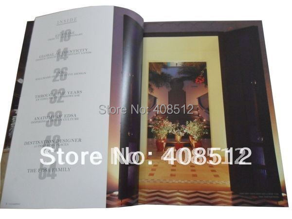 customized design 20 pages catalogue / booklet / magazine printing(China (Mainland))