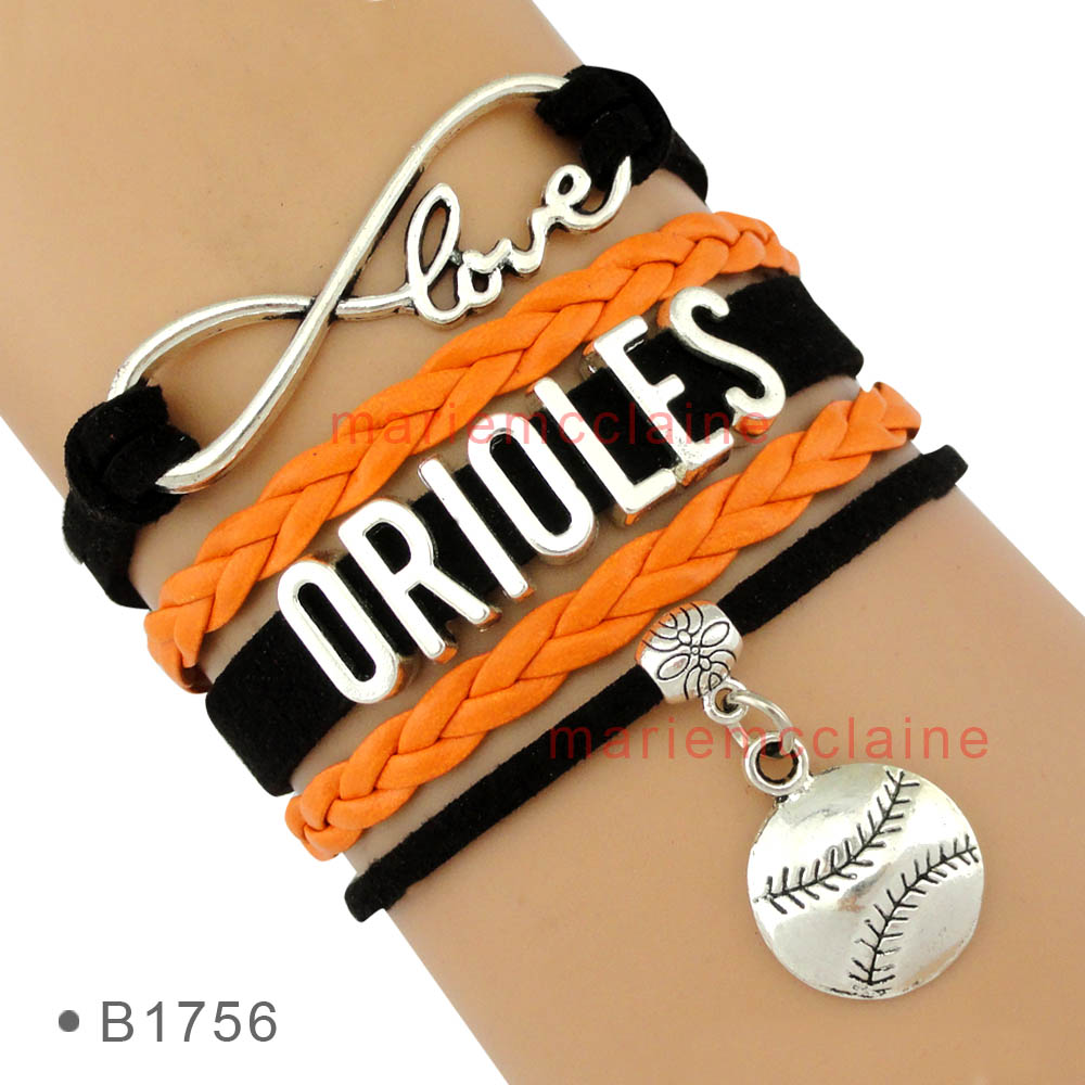 (10 Pieces/Lot) Infinity Love Major League Baseball Baltimore Orioles Bracelet Mens Womens Custom Any Themes Drop Shipping<br><br>Aliexpress