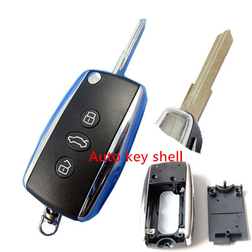 Hot sale Auto Flip Key Shell for Bentley Cover Remote Transmitter 3 Button with free shipping(China (Mainland))