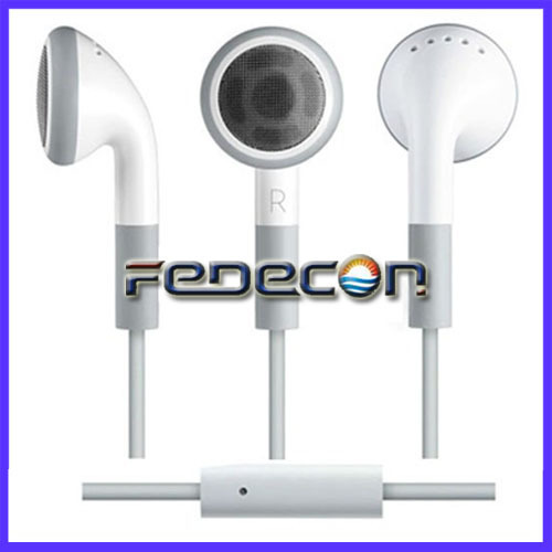 FEDEX  DHL Free shipping 100 Pcs/Lot 3.5mm Earphone Headphone Headset  With Mic Microphone For iPod iPhone 5 5G  4G 4S 3G 3GS