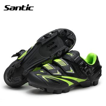 Santic Мужчины Велоспорт Обувь MTB Обувь Из Микрофибры Дышащая Auto-lock Велосипедов Спорт Горный Велосипед Обувь Zapatillas Ciclismo MTB
