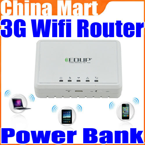 EDUP EP-9507N Wireless 3G 11N Wifi Router/Repeater/AP And 5000mAh Battery Power Bank Free Shipping + Drop Shipping