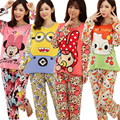 New 2015 Spring Autumn womens Pajama Sets  Long Sleeve women Sleepwear Pajamas Women nightwear for women  M-XL