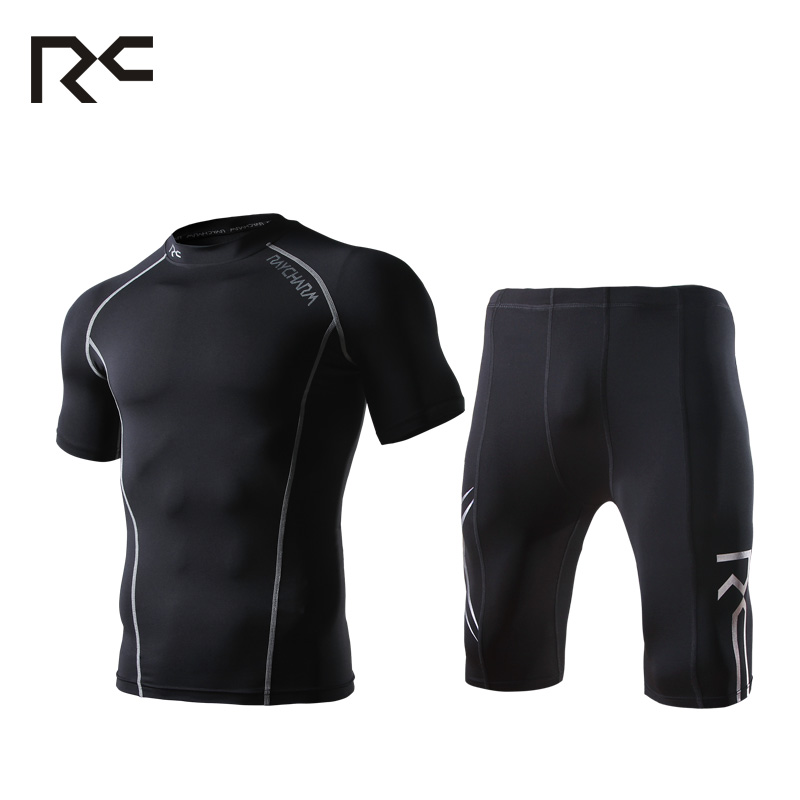 Men's Compression Base Layers Shorts Running Set Gym Fitness Cycling Sports Tights Tops Jersey Pants Suit
