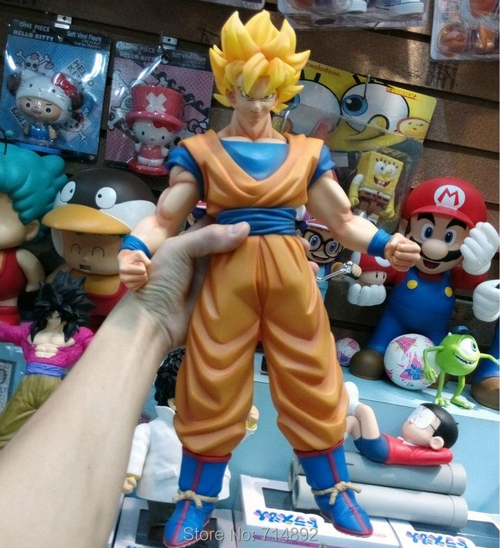 "6 Pcs/Lot Dragon Ball Z Goku Action Figures Super Saiyan Big Size PVC 18"" Cassic Toys For Boy Gift Free Shipping By EMS(China (Mainland))"