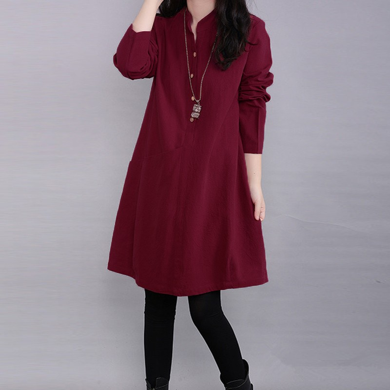 Buy fashion autumn dress 2016 elegant for Where to buy casual dress shirts
