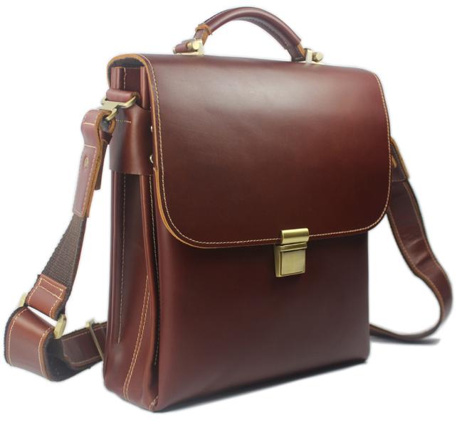 Hot 100% Real Leather Mens  Tote Shoulder Bag Messenger Bag Briefcase<br><br>Aliexpress