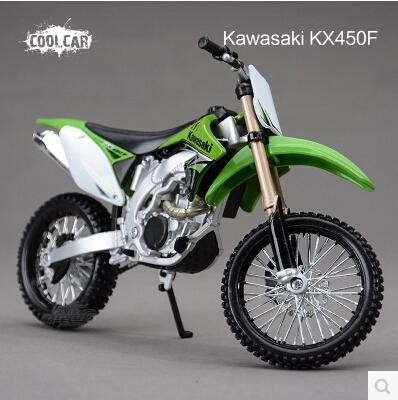 Hot sale KAWASAKI KX 450F Maisto 1:12 motorcycle model kids toy Motocross collection green Mountain biking gift(China (Mainland))